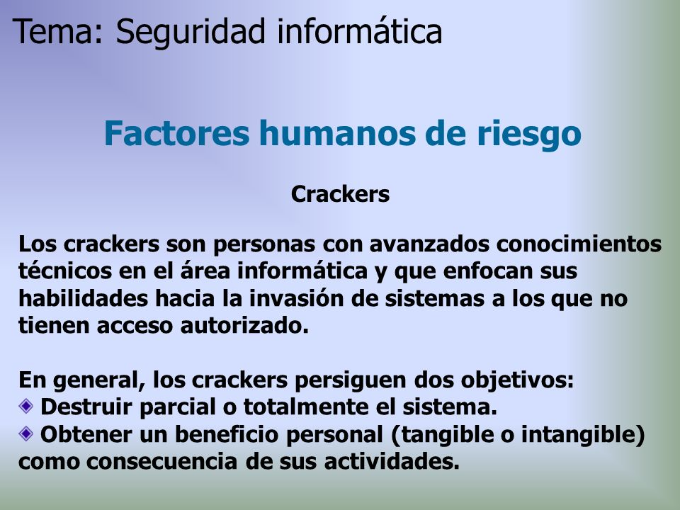 Factores humanos de riesgo