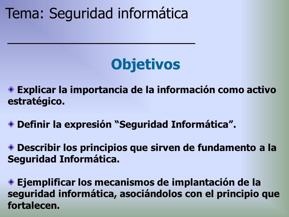 Tema: Seguridad informática