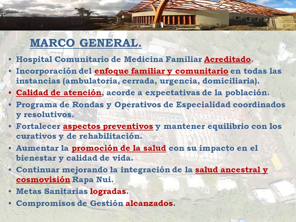 MARCO GENERAL. Hospital Comunitario de Medicina Familiar Acreditado.