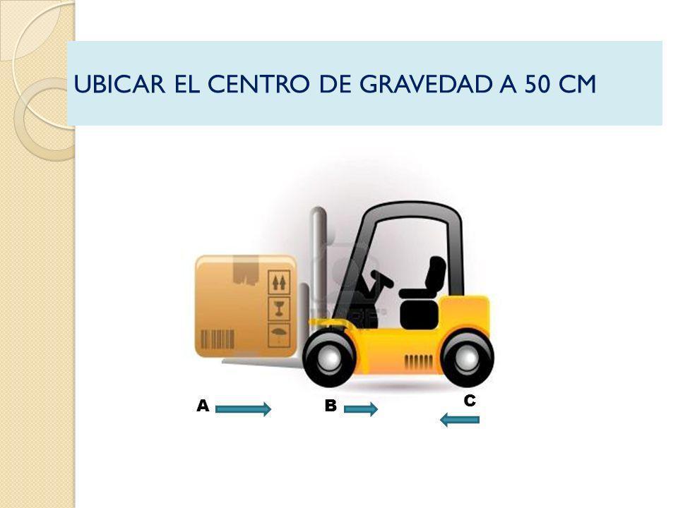 UBICAR EL CENTRO DE GRAVEDAD A 50 CM