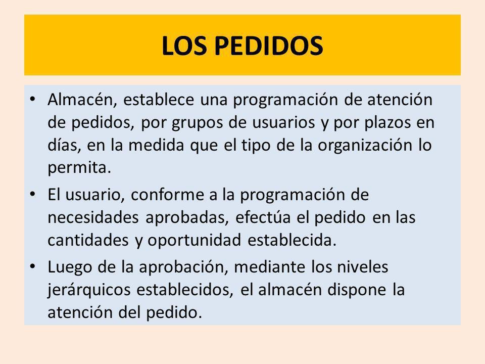LOS PEDIDOS
