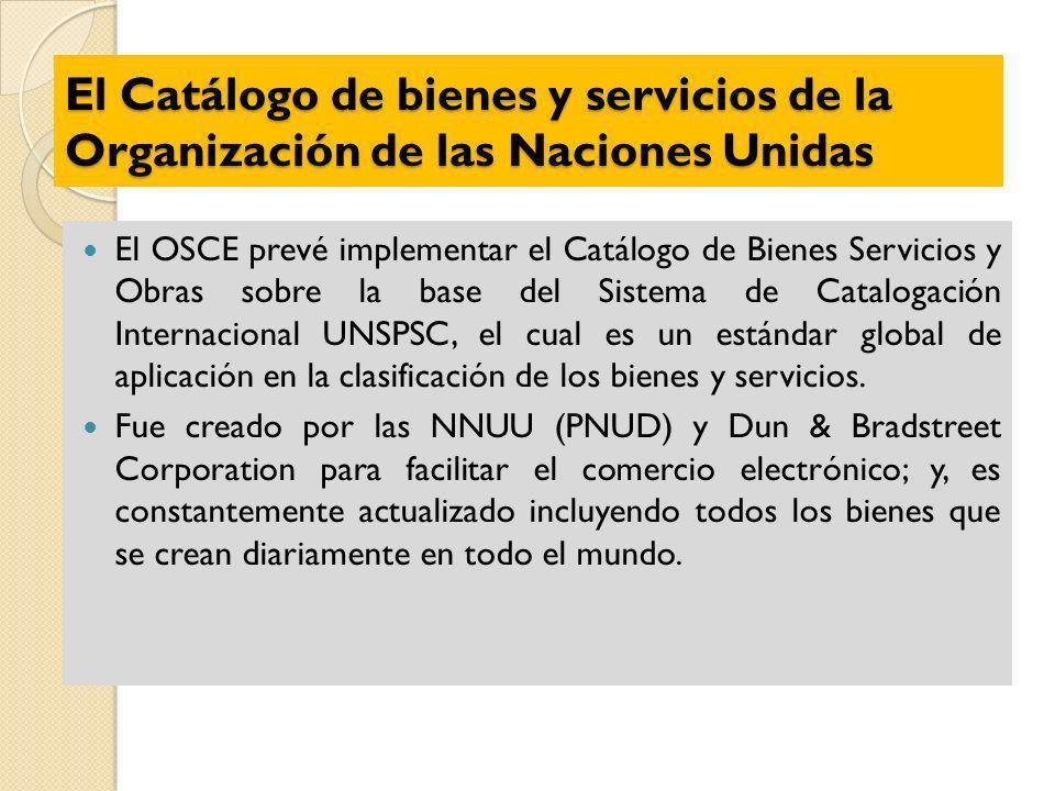 El Catálogo de bienes y servicios de la Organización de las Naciones Unidas
