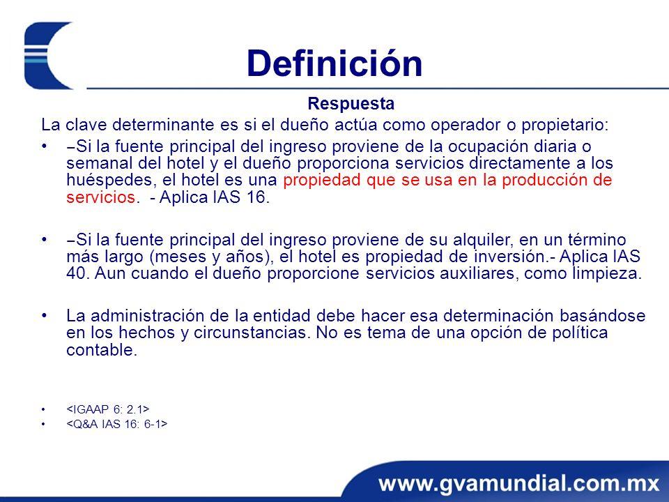 Definición Respuesta. La clave determinante es si el dueño actúa como operador o propietario: