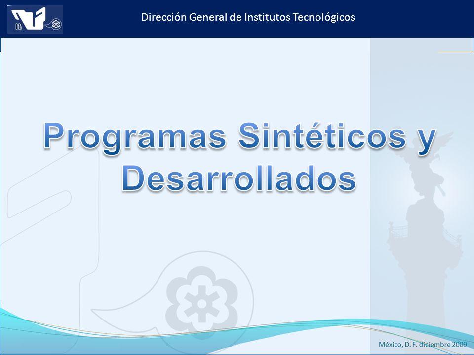 Programas Sintéticos y Desarrollados