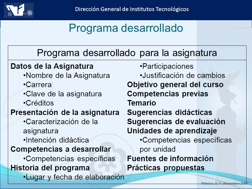 Programa desarrollado