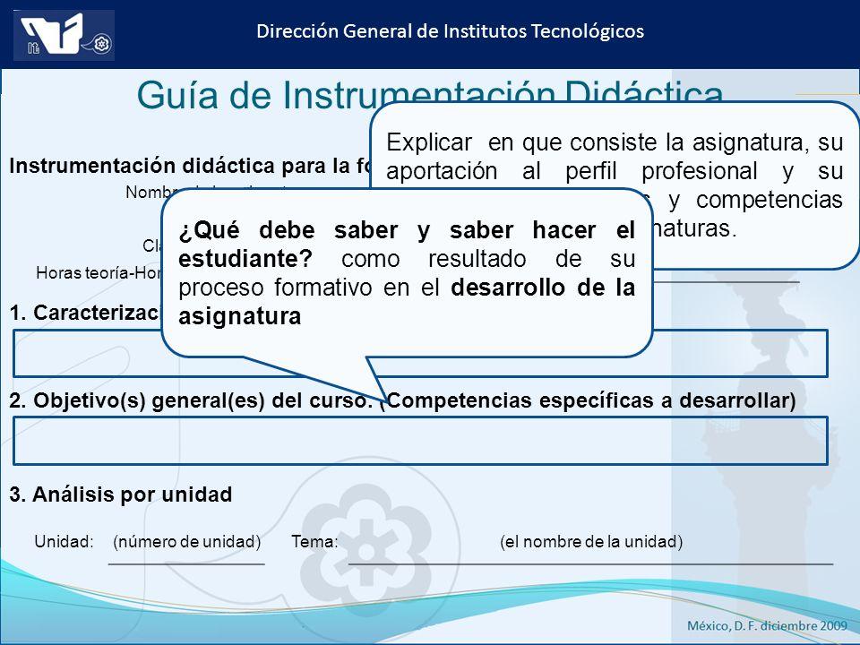 Guía de Instrumentación Didáctica