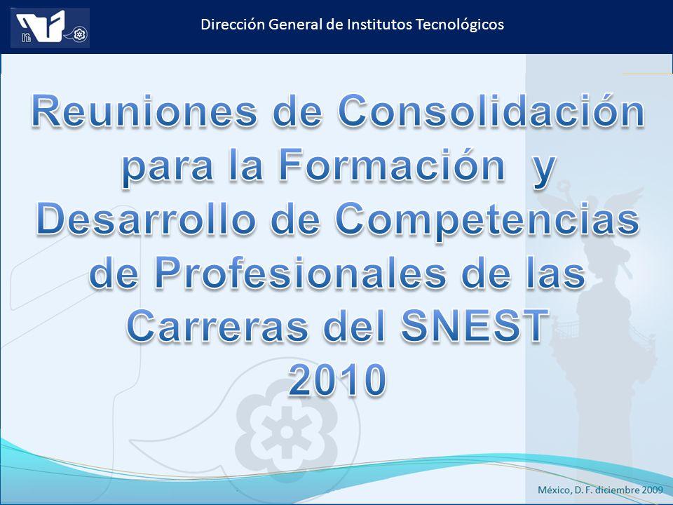 Reuniones de Consolidación para la Formación y Desarrollo de Competencias de Profesionales de las Carreras del SNEST