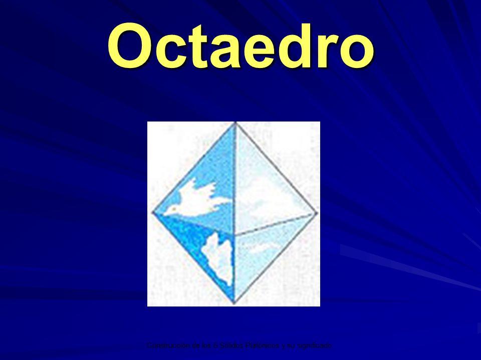 Octaedro Construcción de los 5 Sólidos Platónicos y su significado.