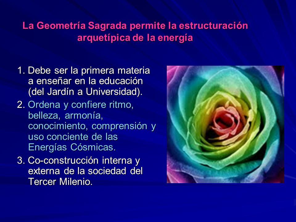 La Geometría Sagrada permite la estructuración arquetípica de la energía