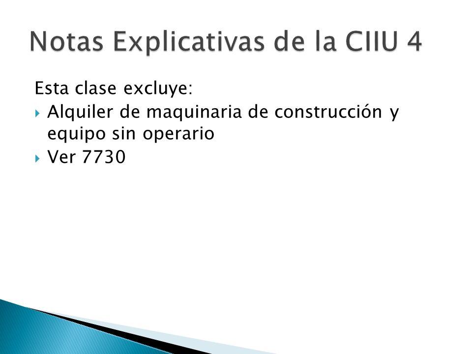 Notas Explicativas de la CIIU 4