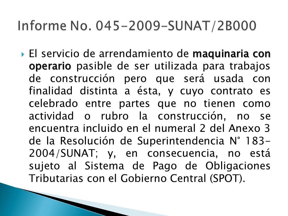 Informe No. 045-2009-SUNAT/2B000