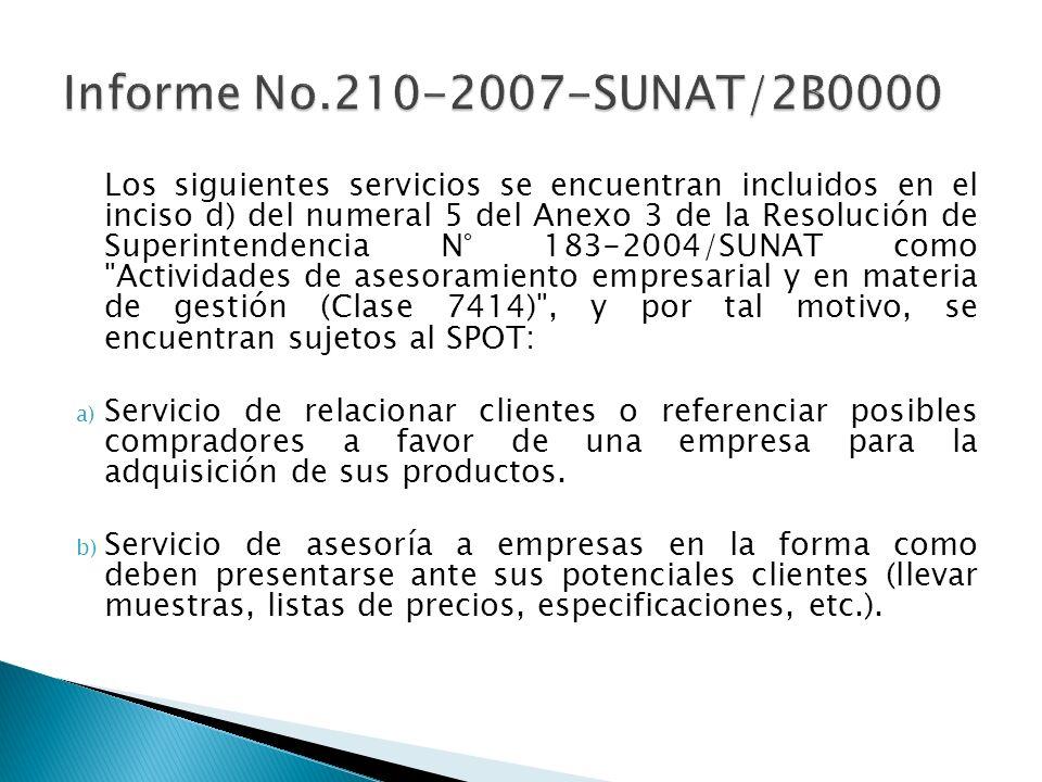 Informe No.210-2007-SUNAT/2B0000