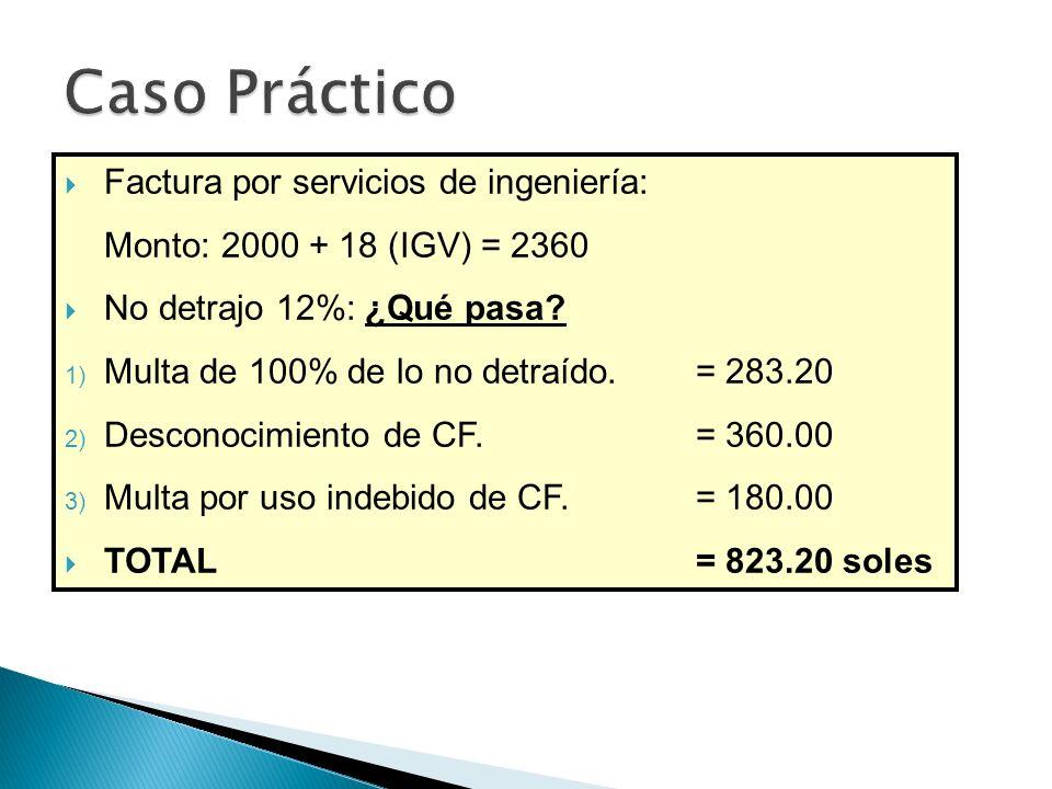 Caso Práctico Factura por servicios de ingeniería: