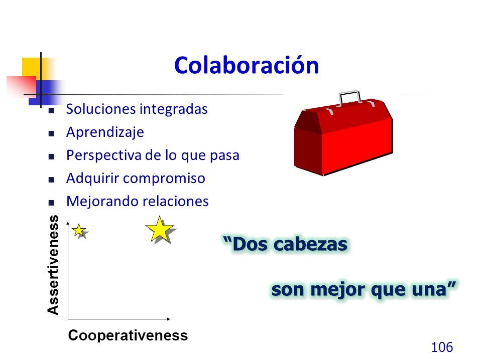 Colaboración Dos cabezas son mejor que una Soluciones integradas