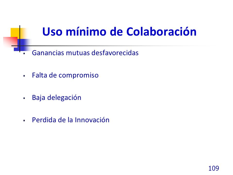 Uso mínimo de Colaboración