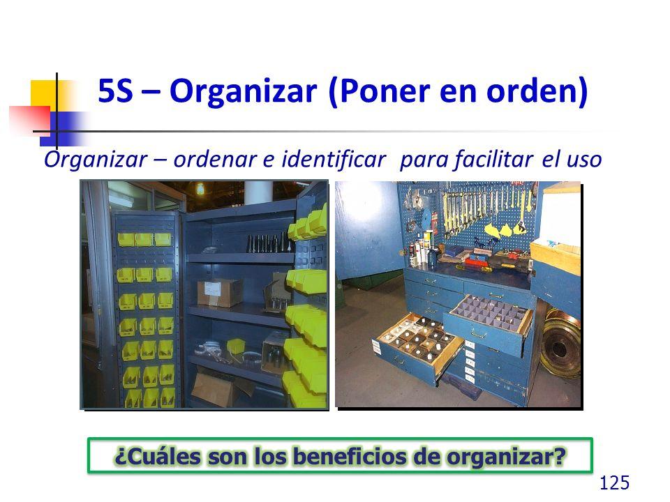 5S – Organizar (Poner en orden)
