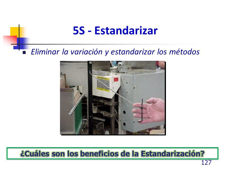 ¿Cuáles son los beneficios de la Estandarización