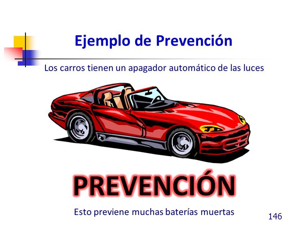 PREVENCIÓN Ejemplo de Prevención