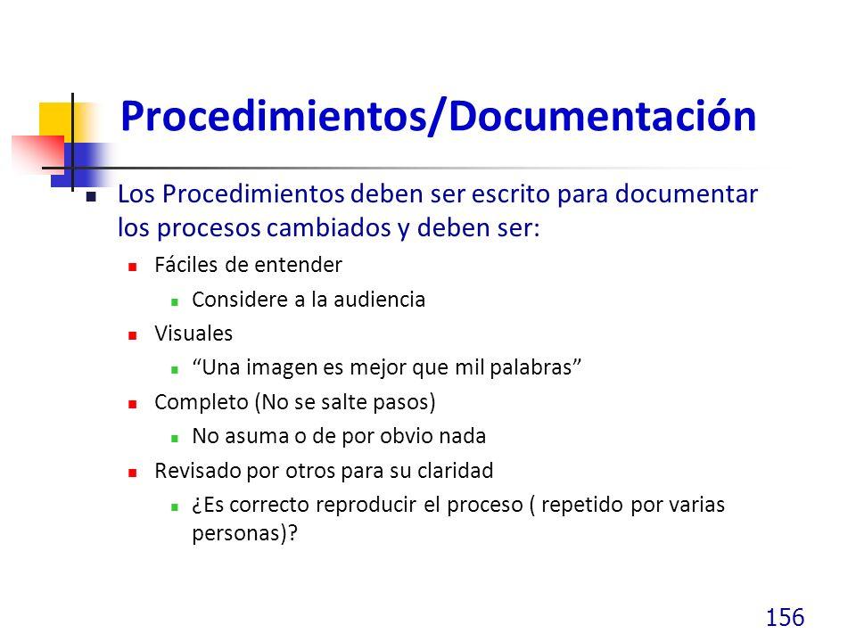 Procedimientos/Documentación