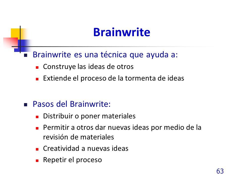 Brainwrite Brainwrite es una técnica que ayuda a: