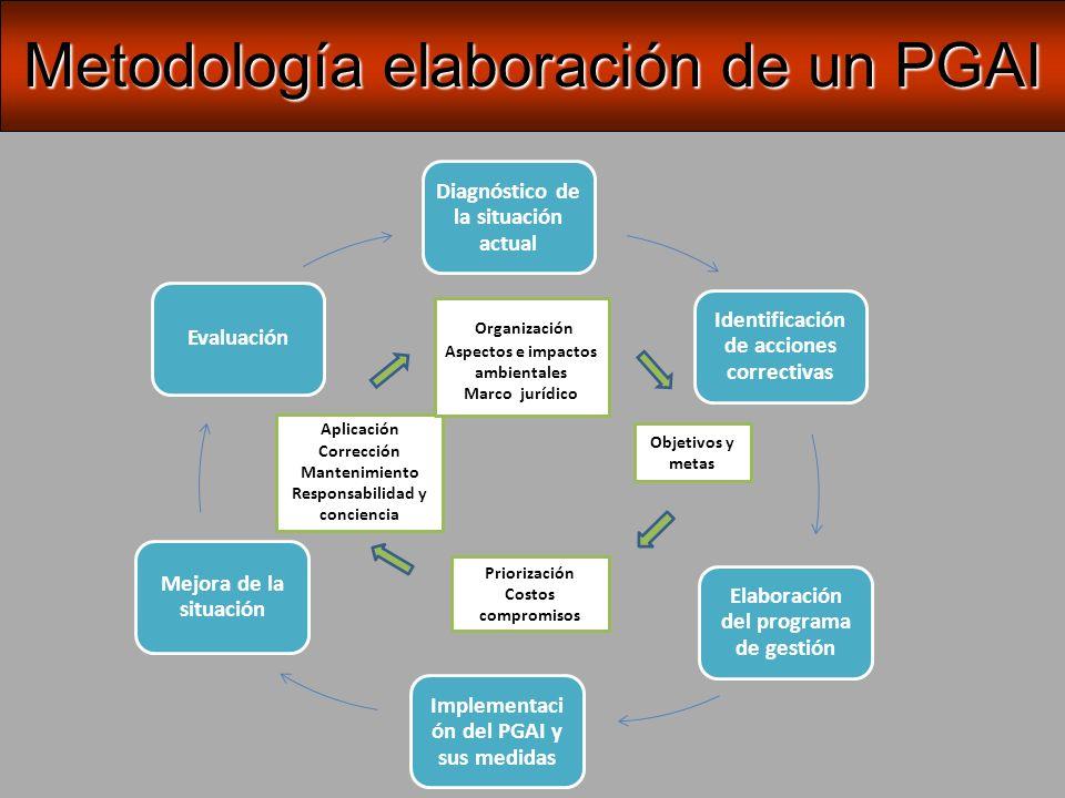 Metodología elaboración de un PGAI