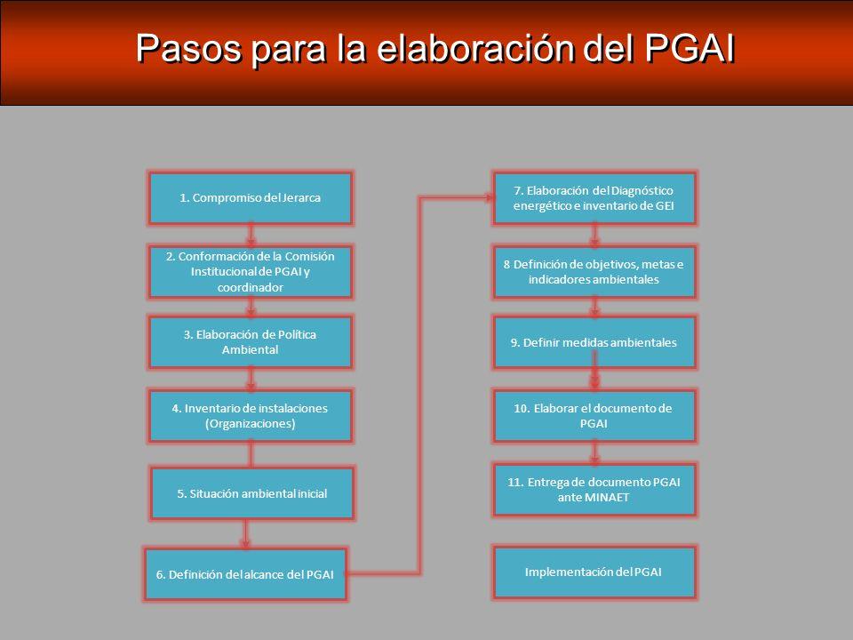Pasos para la elaboración del PGAI