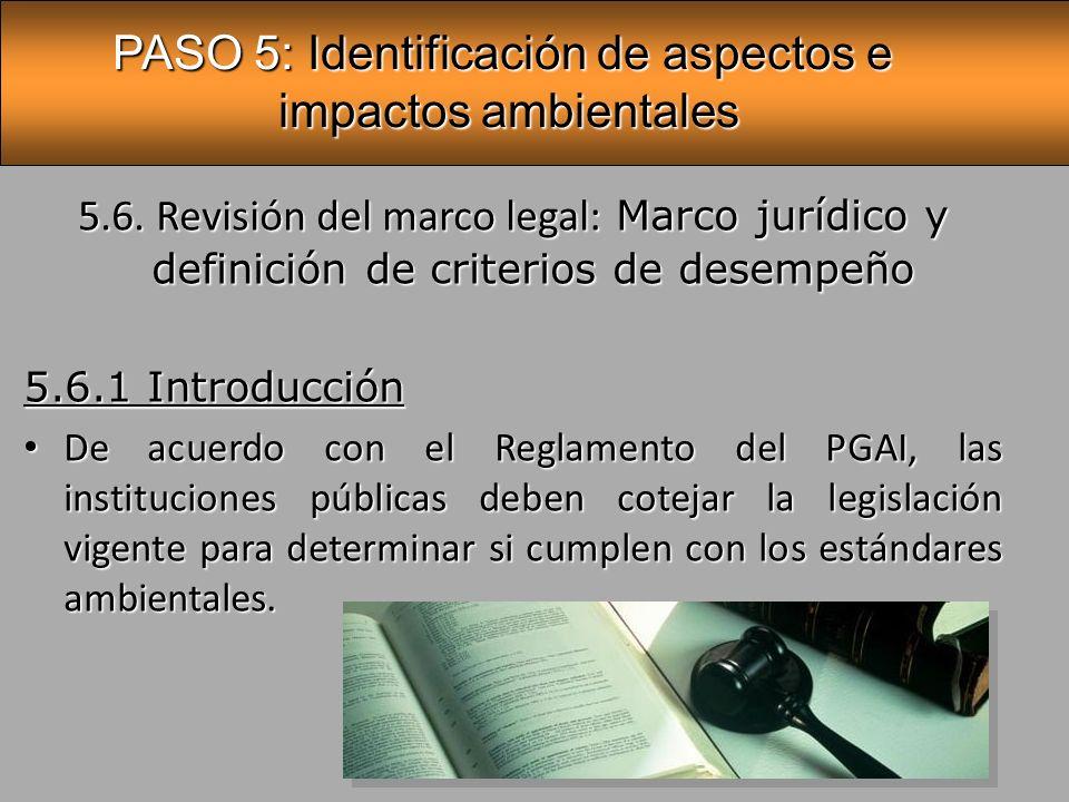 PASO 5: Identificación de aspectos e impactos ambientales