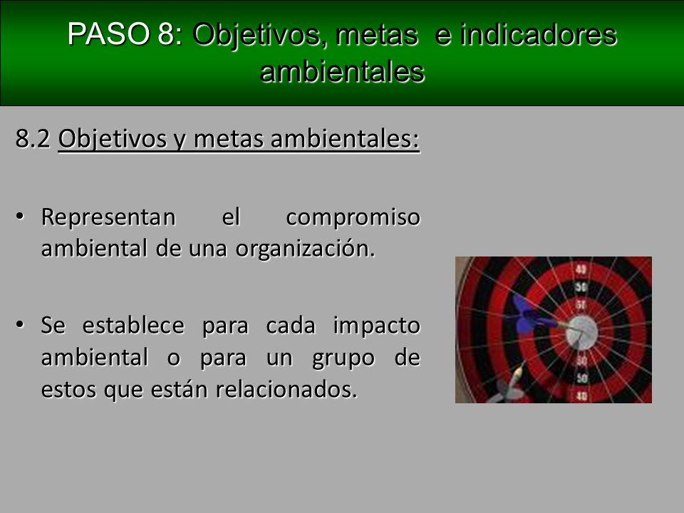 PASO 8: Objetivos, metas e indicadores ambientales