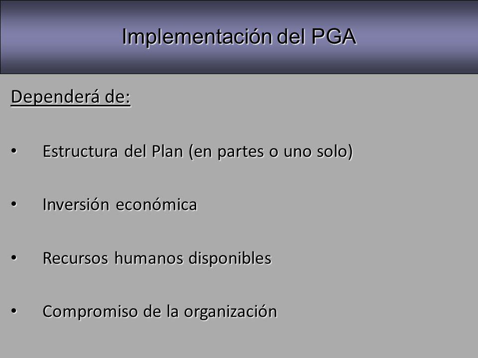 Implementación del PGA