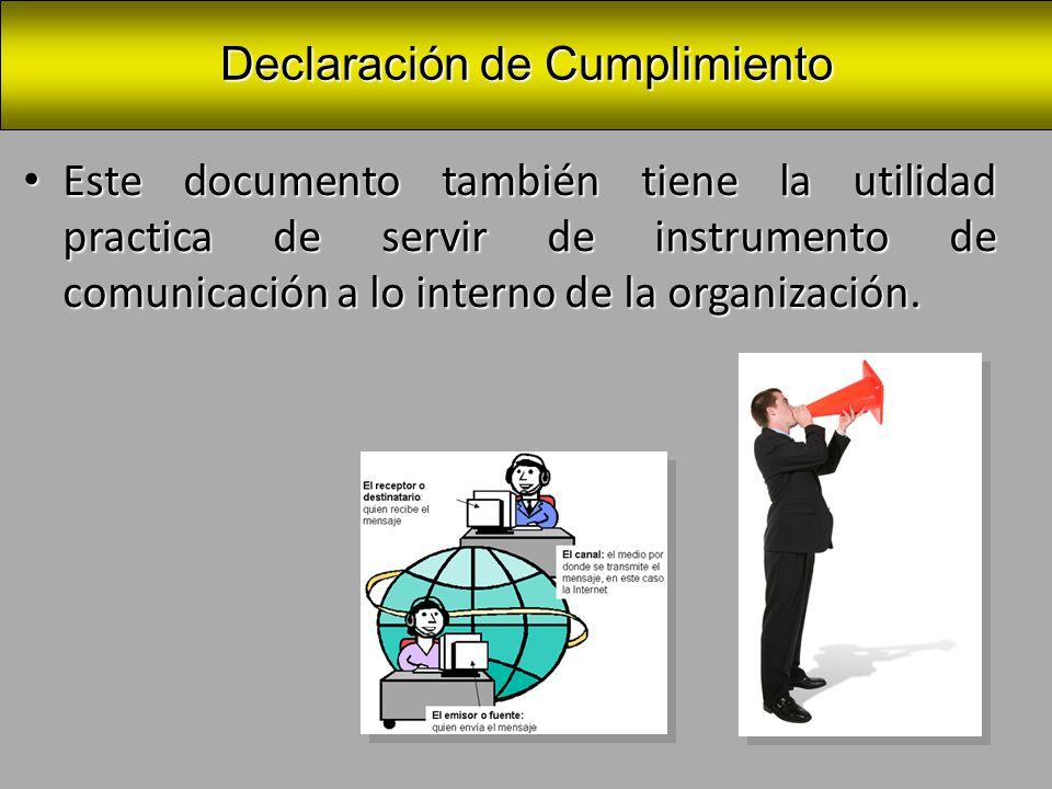 Declaración de Cumplimiento