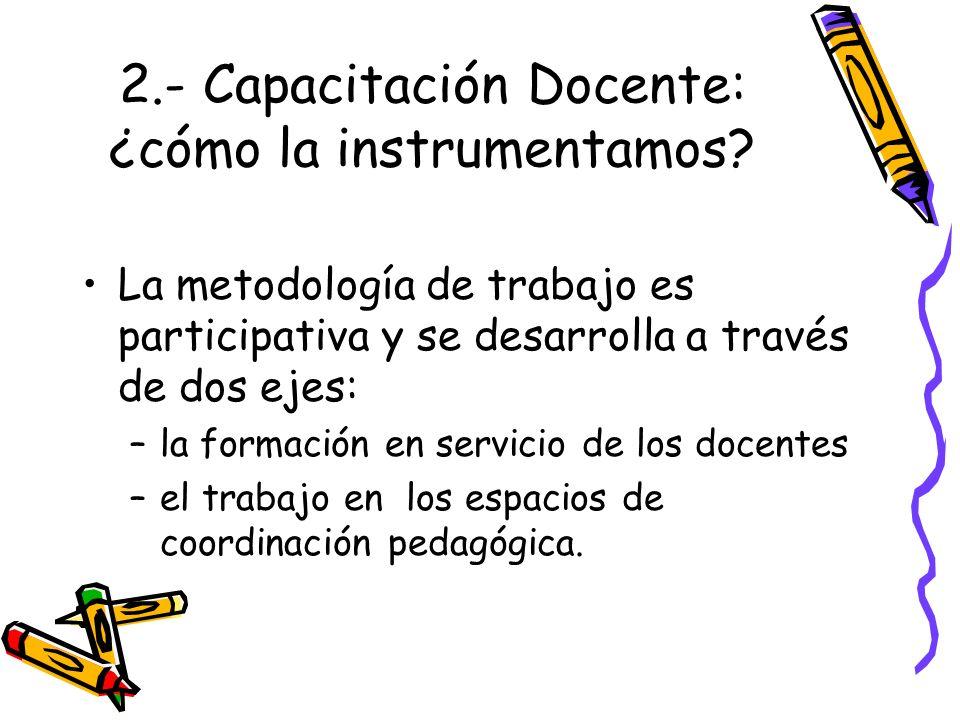 2.- Capacitación Docente: ¿cómo la instrumentamos