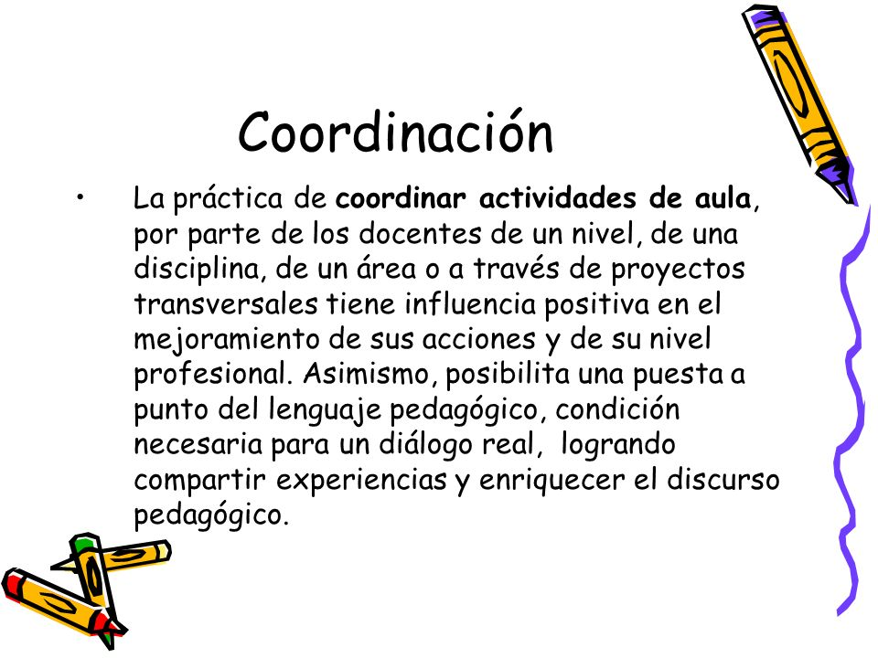 Coordinación