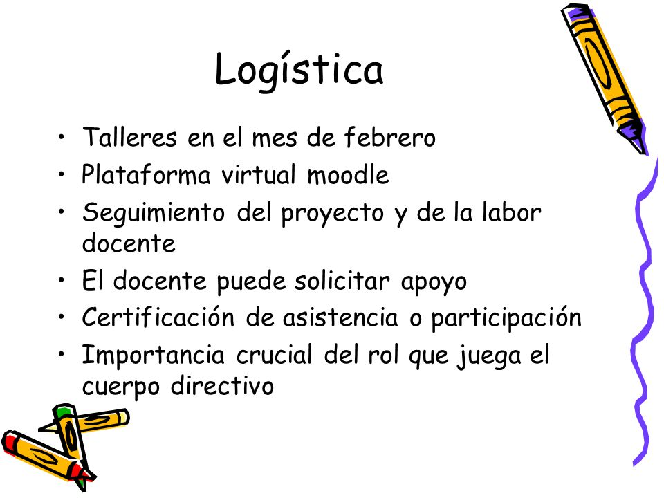 Logística Talleres en el mes de febrero Plataforma virtual moodle
