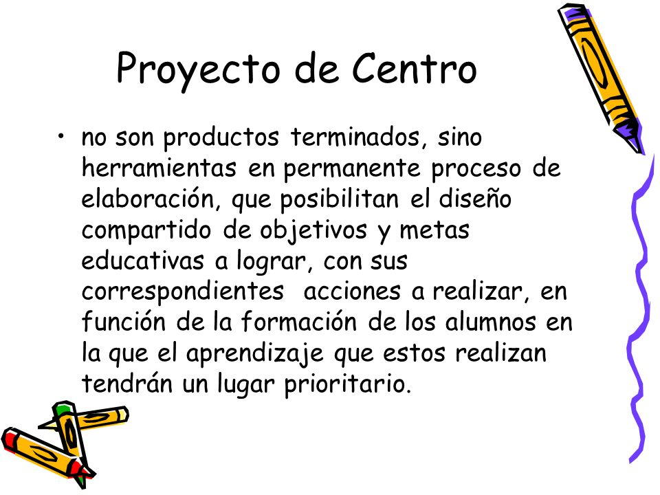 Proyecto de Centro
