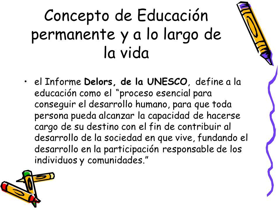 Concepto de Educación permanente y a lo largo de la vida