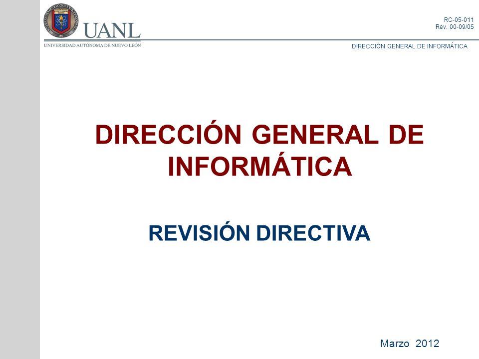 DIRECCIÓN GENERAL DE INFORMÁTICA