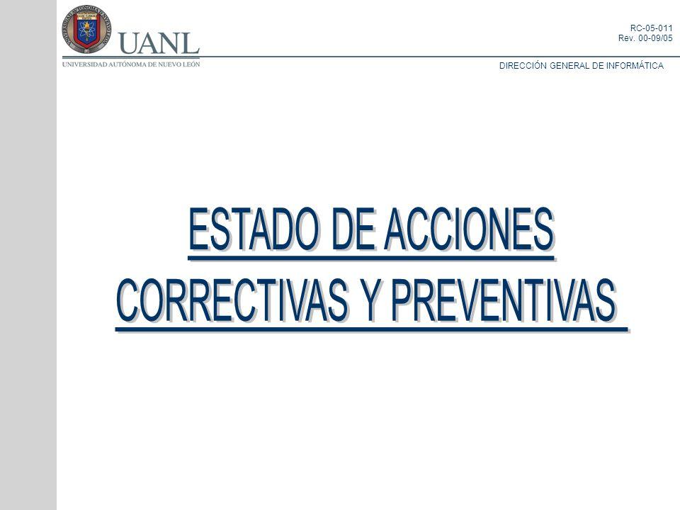 CORRECTIVAS Y PREVENTIVAS