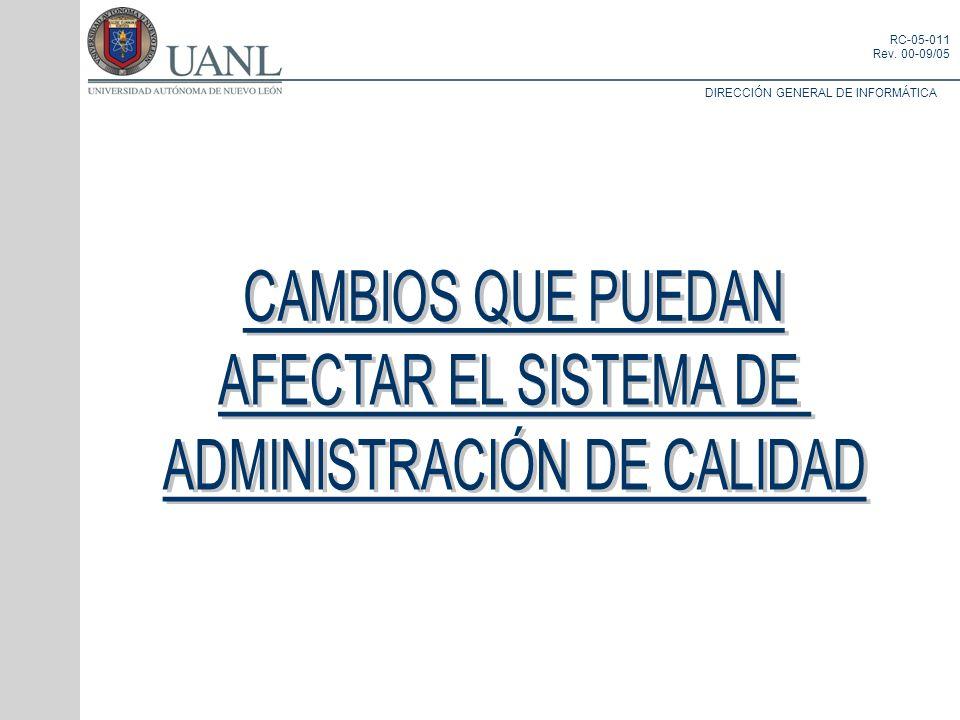 ADMINISTRACIÓN DE CALIDAD