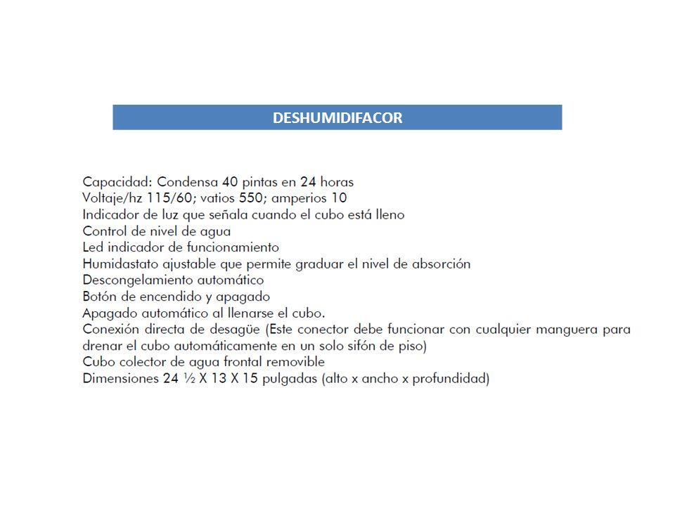 DESHUMIDIFACOR