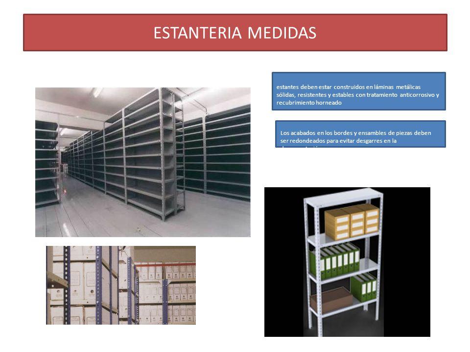 ESTANTERIA MEDIDAS