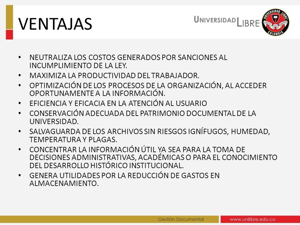 VENTAJAS NEUTRALIZA LOS COSTOS GENERADOS POR SANCIONES AL INCUMPLIMIENTO DE LA LEY. MAXIMIZA LA PRODUCTIVIDAD DEL TRABAJADOR.