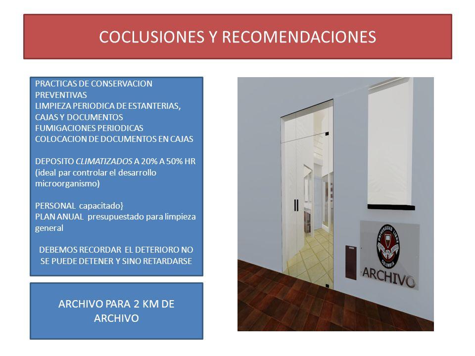 COCLUSIONES Y RECOMENDACIONES
