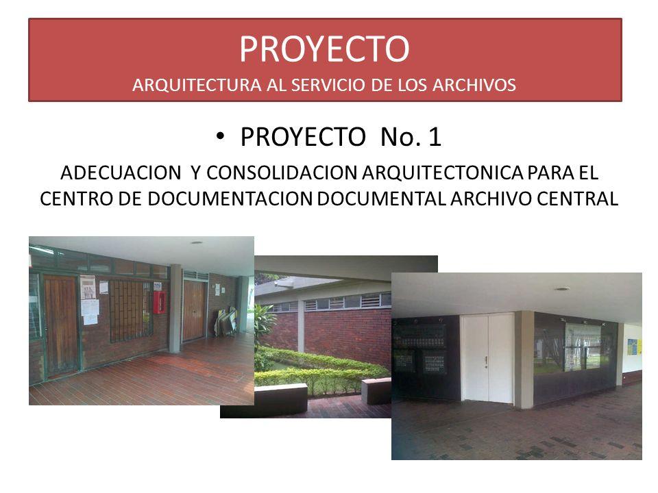 PROYECTO ARQUITECTURA AL SERVICIO DE LOS ARCHIVOS