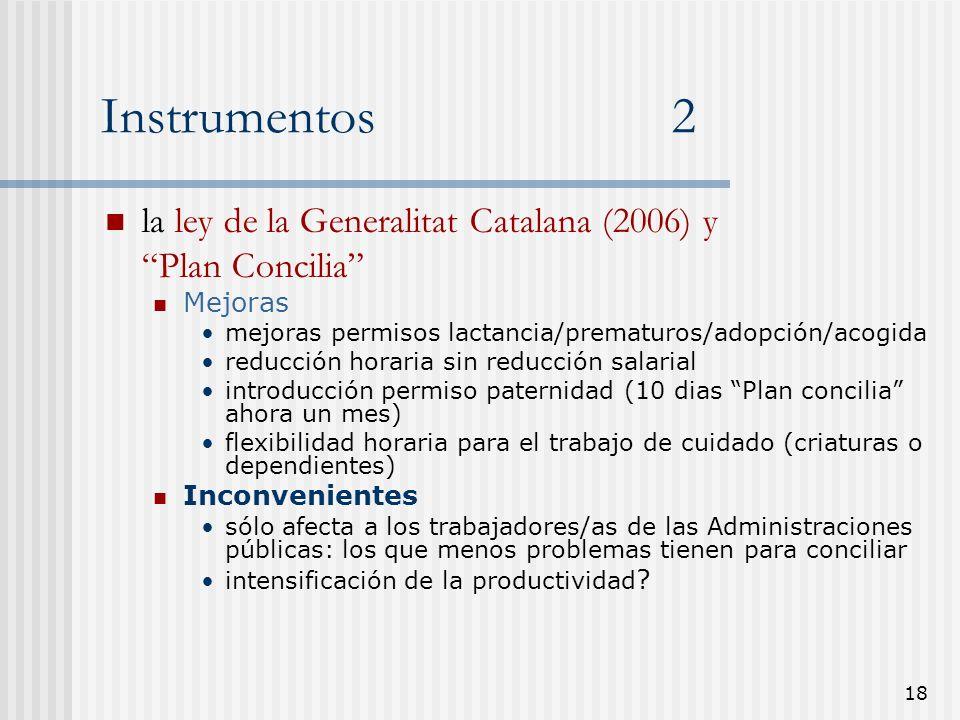 Instrumentos 2 la ley de la Generalitat Catalana (2006) y