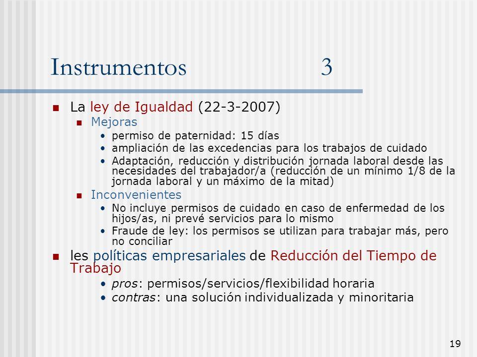 Instrumentos 3 La ley de Igualdad (22-3-2007)