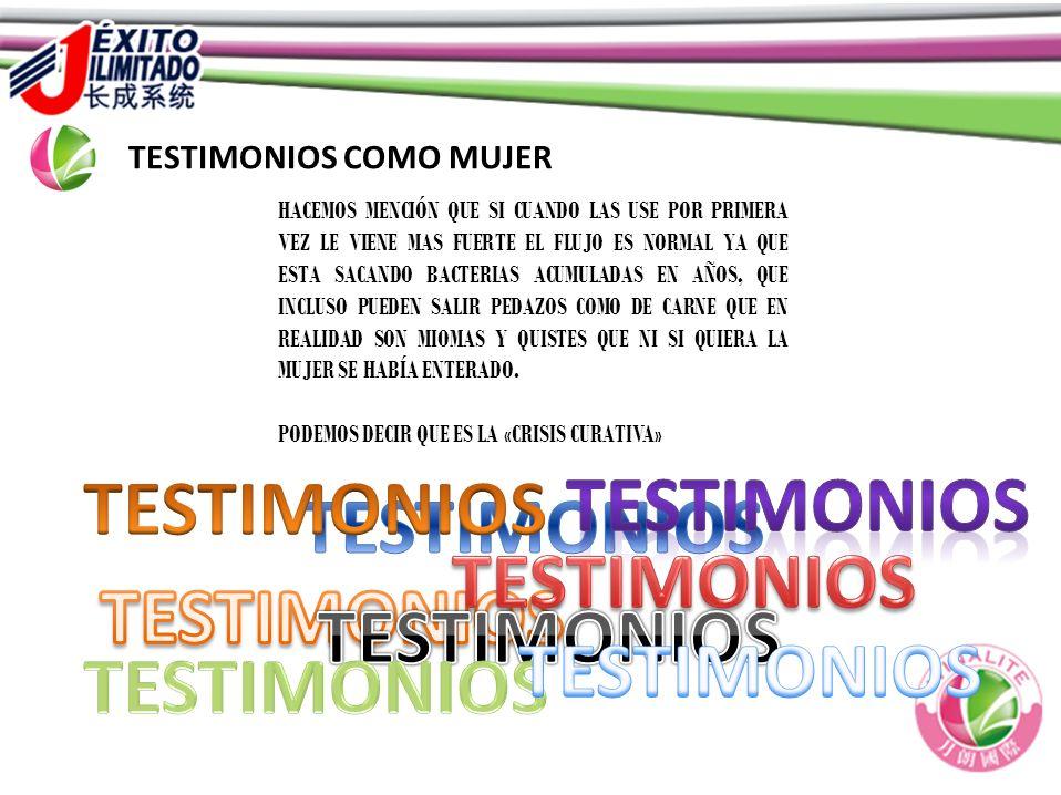 TESTIMONIOS TESTIMONIOS TESTIMONIOS TESTIMONIOS TESTIMONIOS
