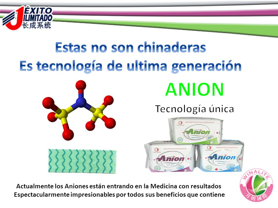 ANION Estas no son chinaderas Es tecnología de ultima generación