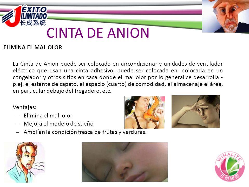 CINTA DE ANION ELIMINA EL MAL OLOR