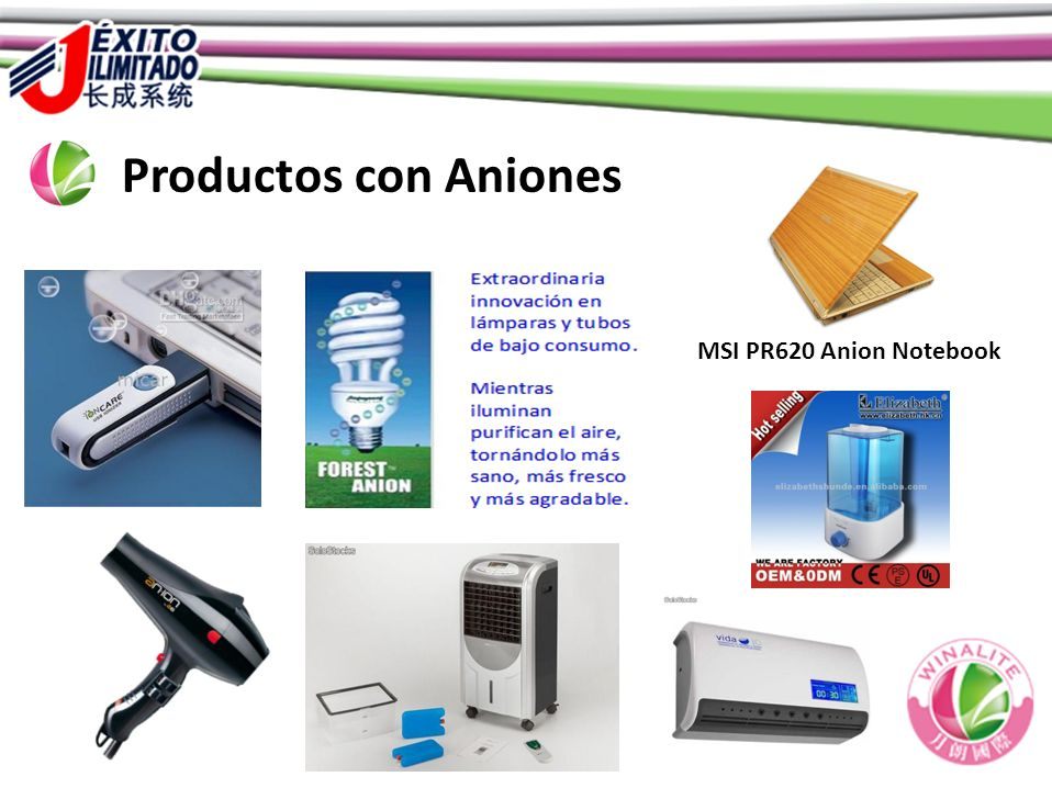 Productos con Aniones MSI PR620 Anion Notebook