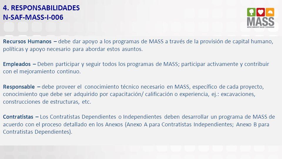 4. RESPONSABILIDADES N-SAF-MASS-I-006